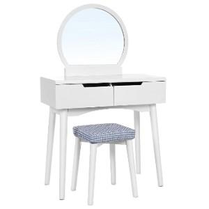 SONGMICS Vanity Table Set with Round Mirror