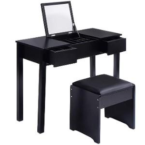 Giantex Vanity Table with Flip Top Mirror