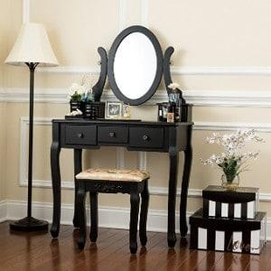 Fineboard Single Mirror Dressing Set