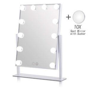 Geek-House Lighted Vanity Mirror Hollywood Style Makeup Tabletops