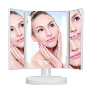 KEDSUM Trifold Lighted Makeup Mirror