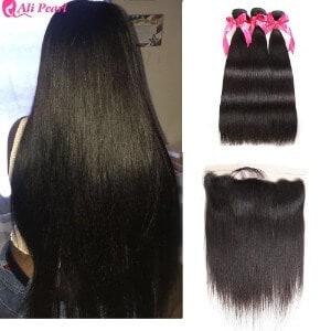 Ali Pearl 8A Brazilian Human Hair 3 Bundles