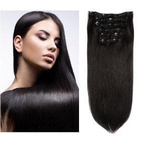 Friskylov Hair Human Hair Clip in Extensions