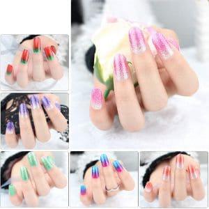 VIWIEU Gradient Glitter Gel Nail Polish Strips