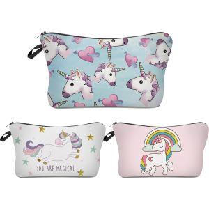 Deanfun Unicorn Makeup Bag 3 Piece Set-min