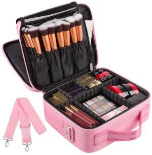 Kootek 2-Layers Travel Makeup Bag-min