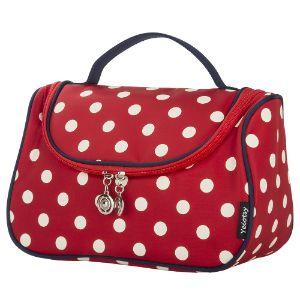 Yeiotsy Stylish Polka Dots Hanging Cosmetic Bag-min